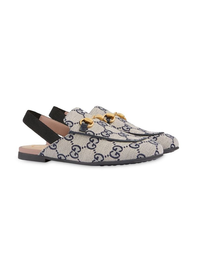 GUCCI CHILDREN: Princetown slippers in GG canvas_1