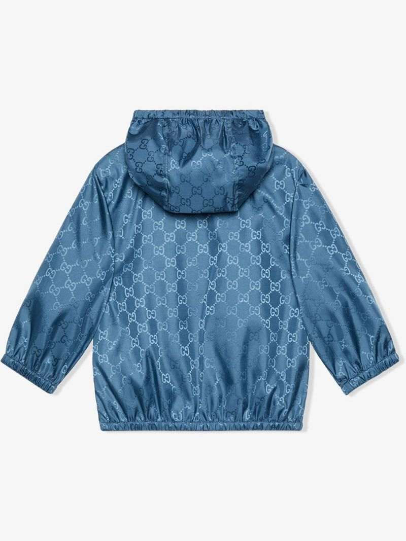 GUCCI CHILDREN: bomber in nylon GG Colore Viola_2