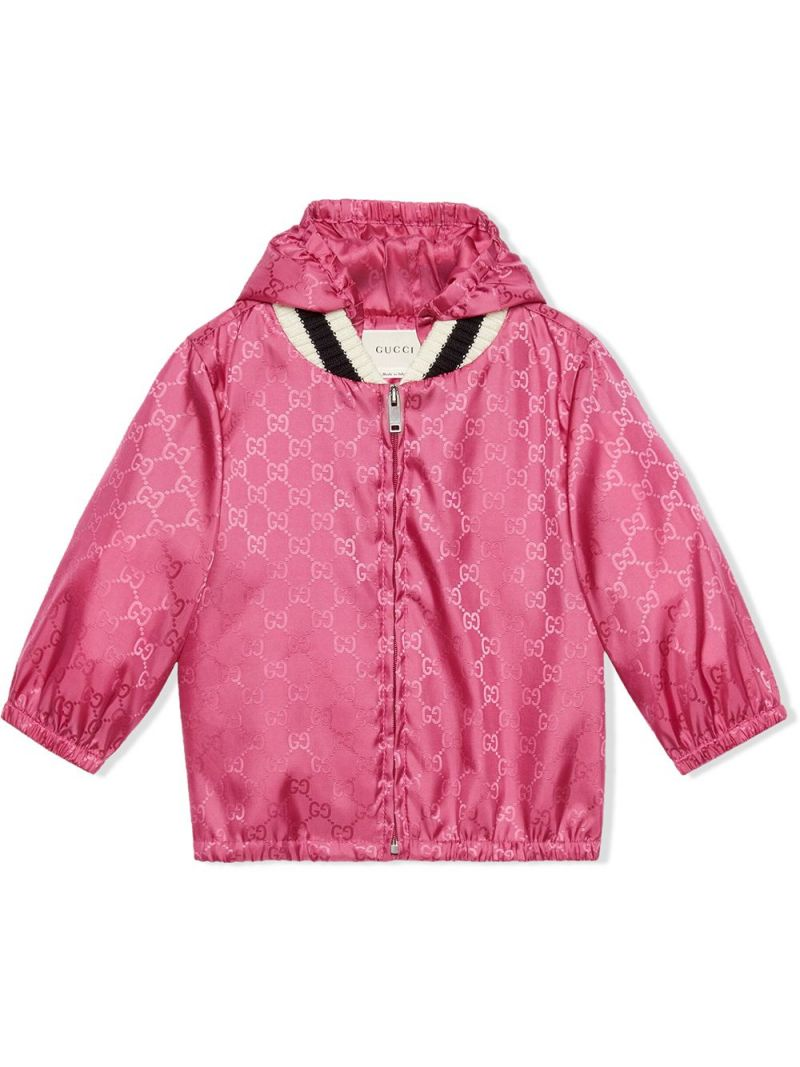 GUCCI CHILDREN: GG nylon bomber jacket_1