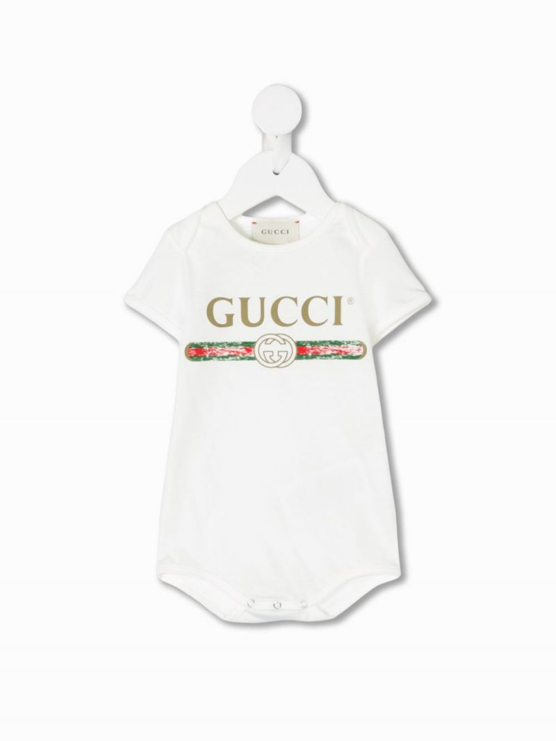 GUCCI CHILDREN: Gucci vintage print cotton gift set_1