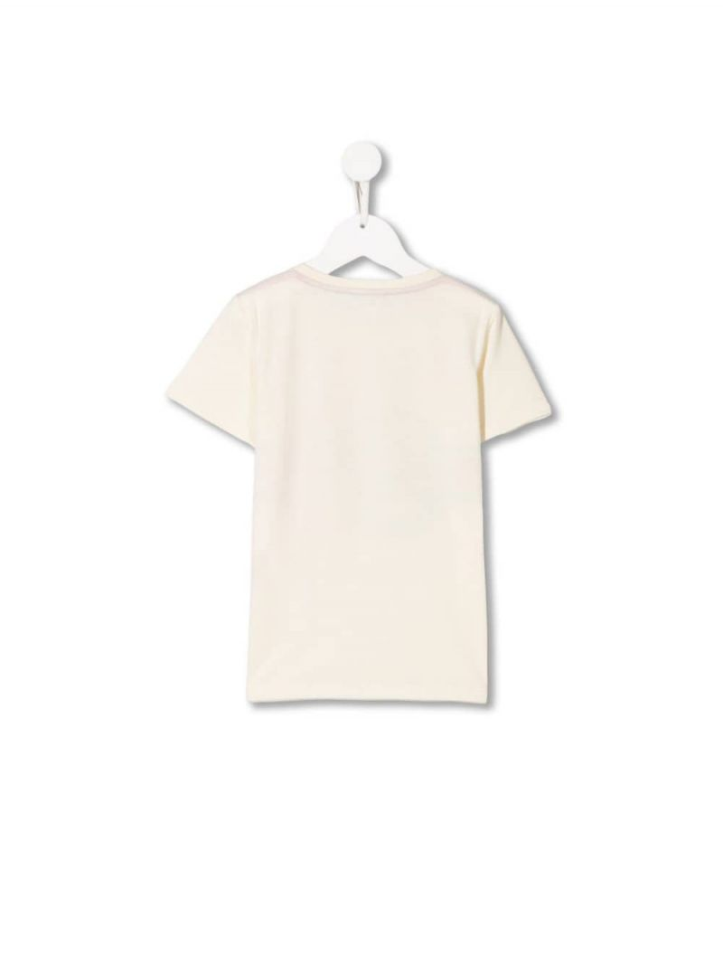 GUCCI CHILDREN: Gucci vintage print cotton t-shirt_2