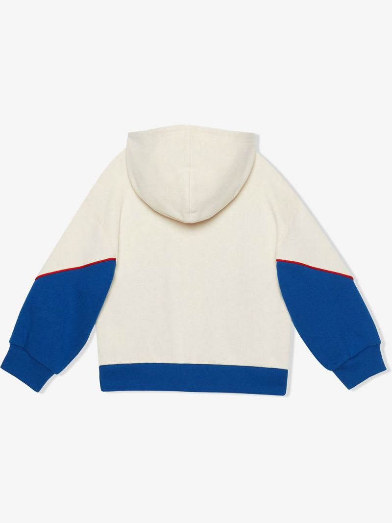GUCCI CHILDREN: Gucci Game patch cotton full-zip hoodie_2