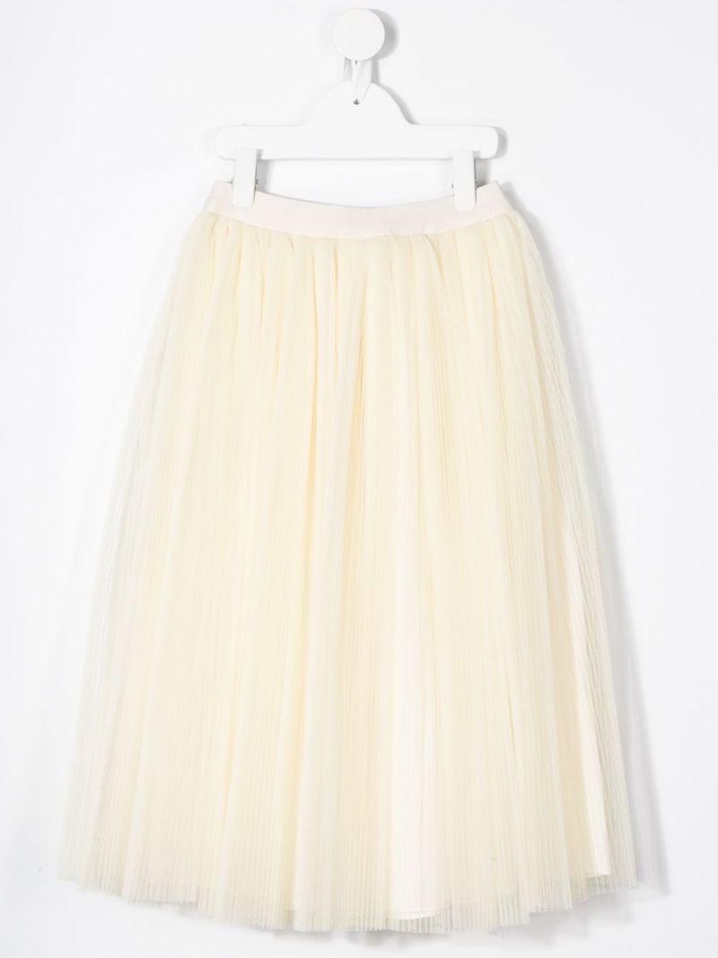 GUCCI CHILDREN: multi-layer tulle circle skirt Color Neutral_2