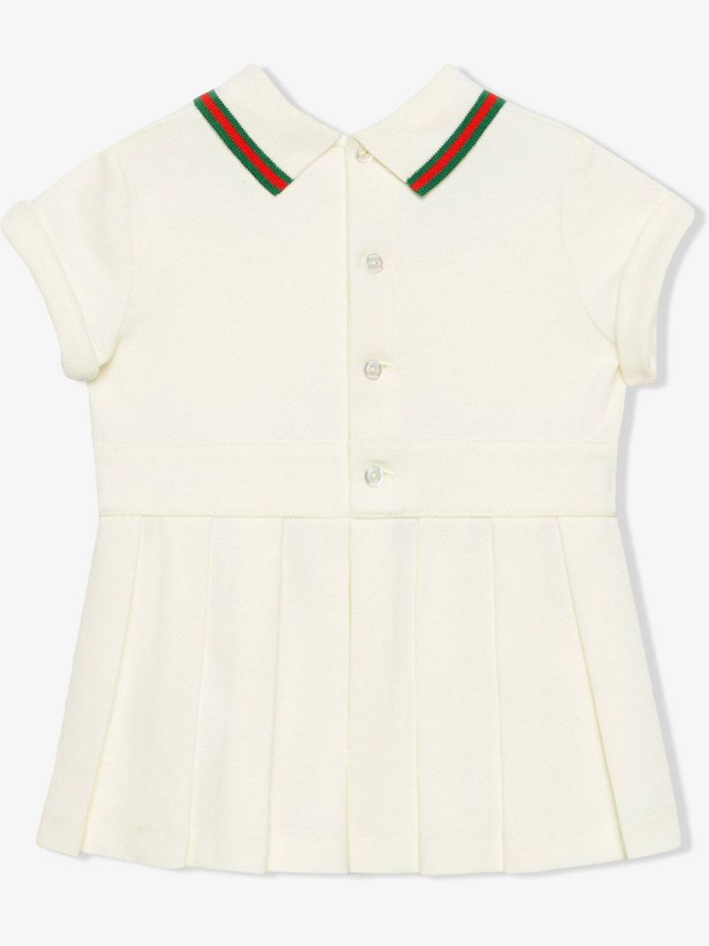 GUCCI CHILDREN: Web-detailed stretch cotton dress_2