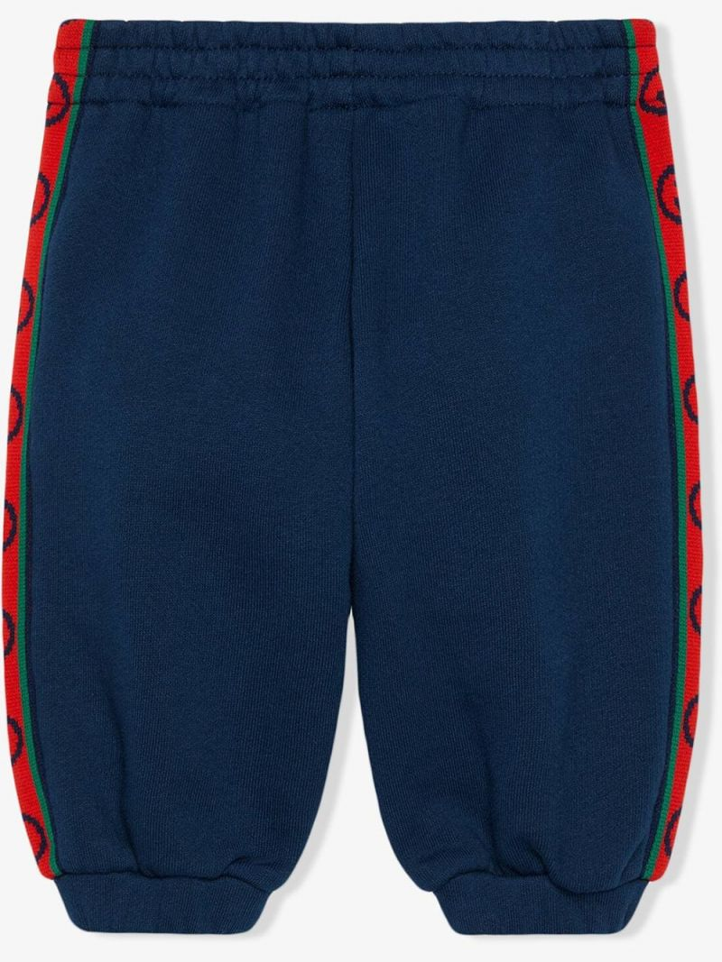 GUCCI CHILDREN: Interlocking G bands cotton joggers_2