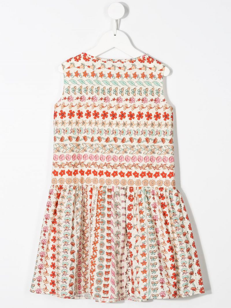 GUCCI CHILDREN: floral print cotton sleeveless dress_2