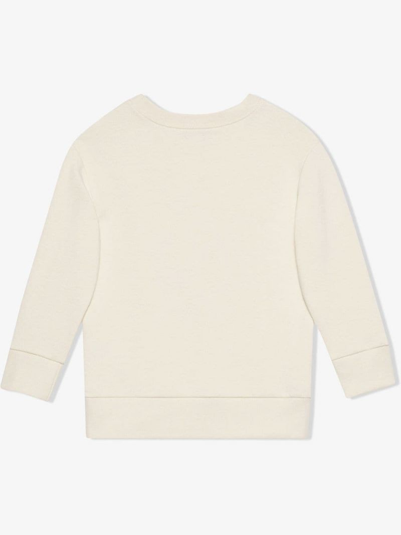 GUCCI CHILDREN: GG apple print cotton sweatshirt Color Multicolor_2