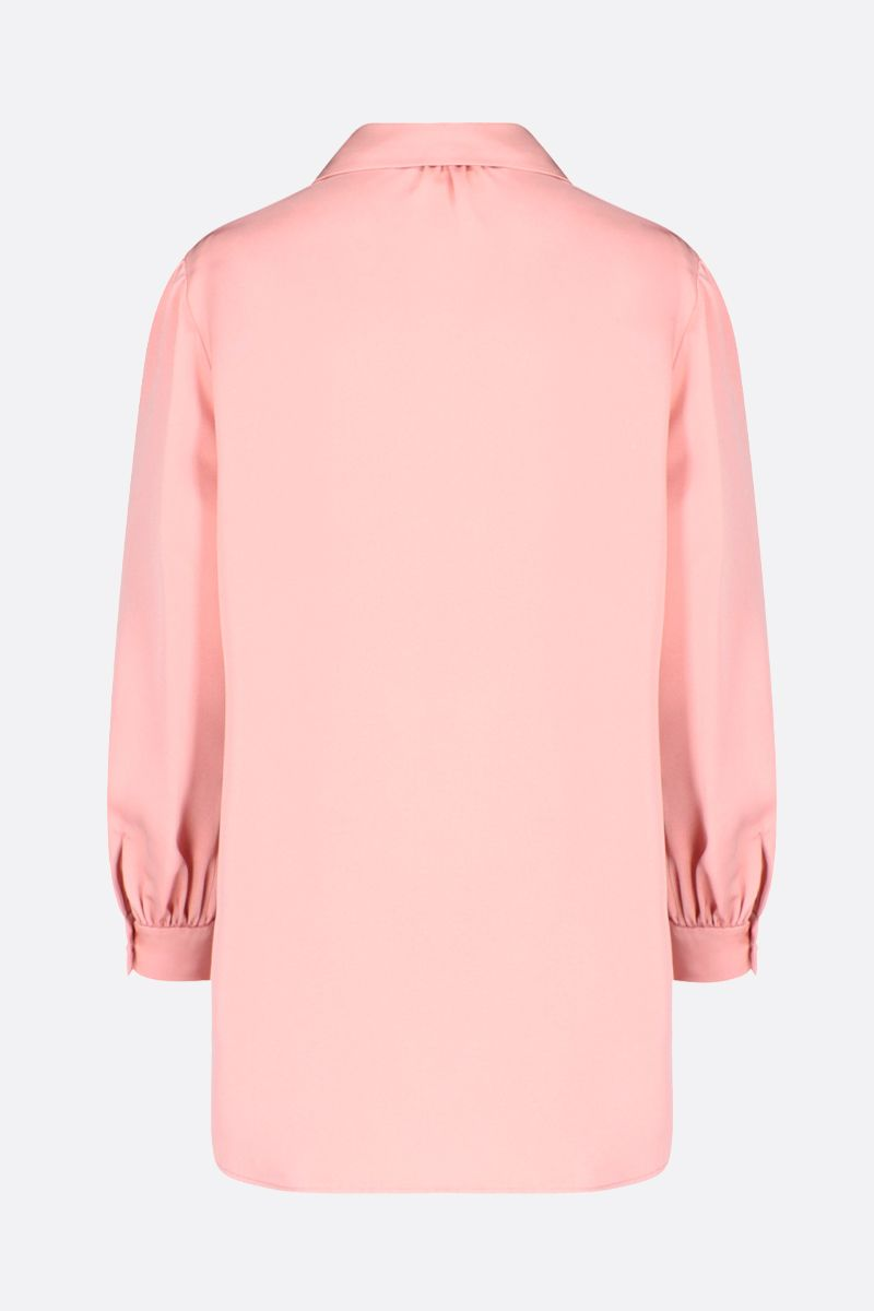 GUCCI: ruches-detailed silk blend blouse Color Pink_2