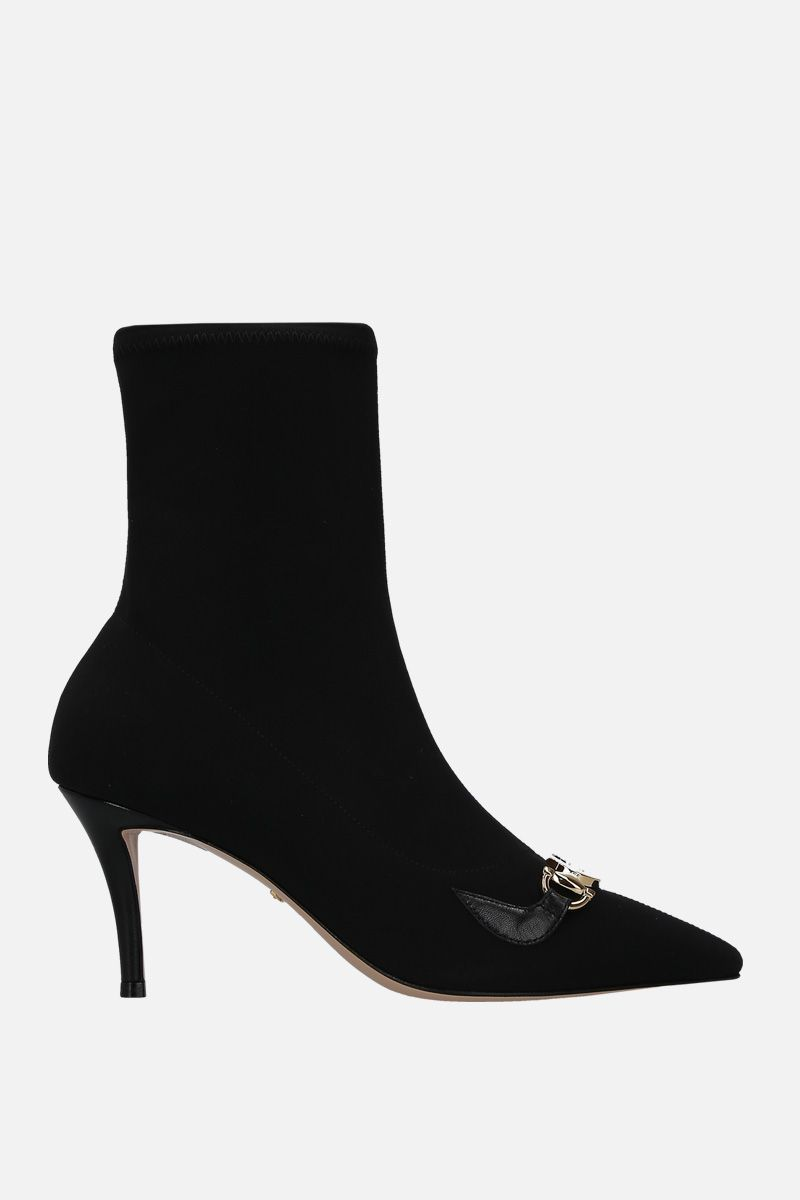 GUCCI: Gucci Zumi ankle boots in stretch knit_1