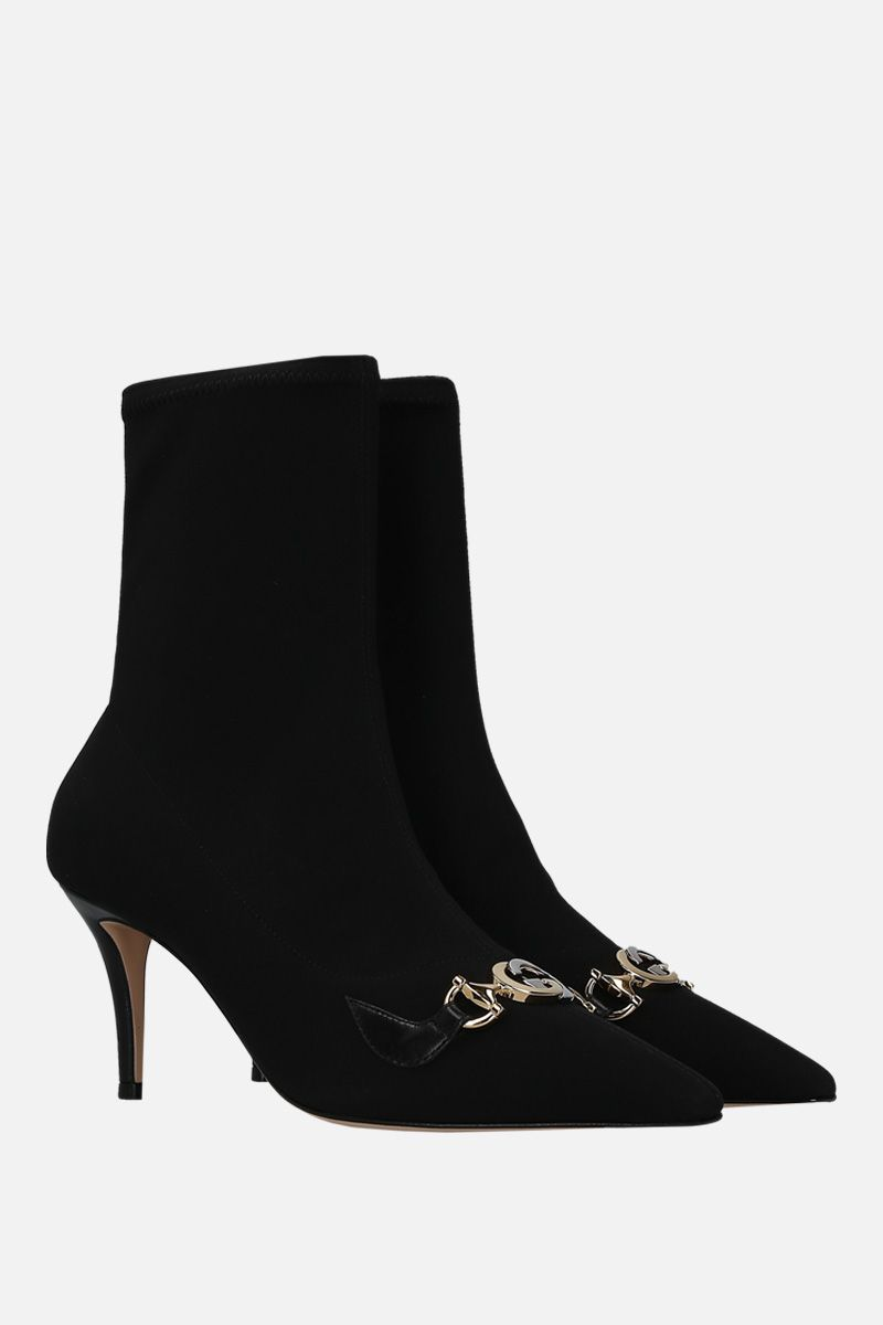 GUCCI: Gucci Zumi ankle boots in stretch knit_2