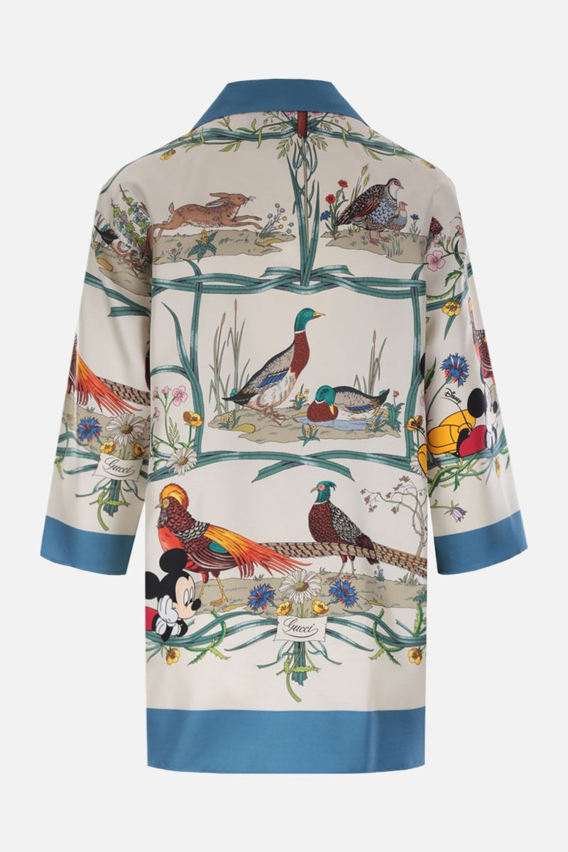 GUCCI: Disney X Gucci printed silk blouse Color Multicolor_2