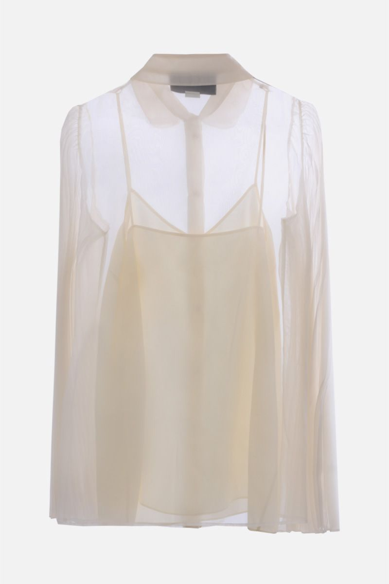 GUCCI: pleated sleeves-detailed organdy shirt Color Neutral_2