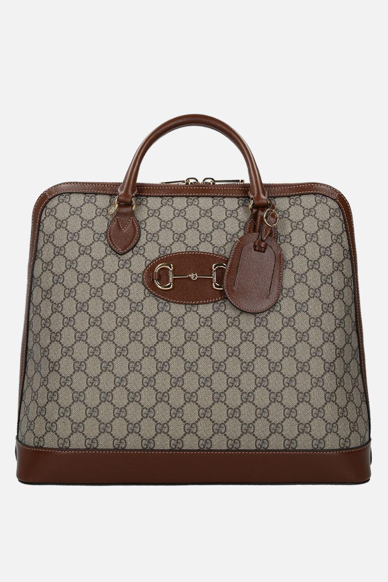 GUCCI: Gucci 1955 Horsebit handbag in GG SUpreme canvas Color Multicolor_1