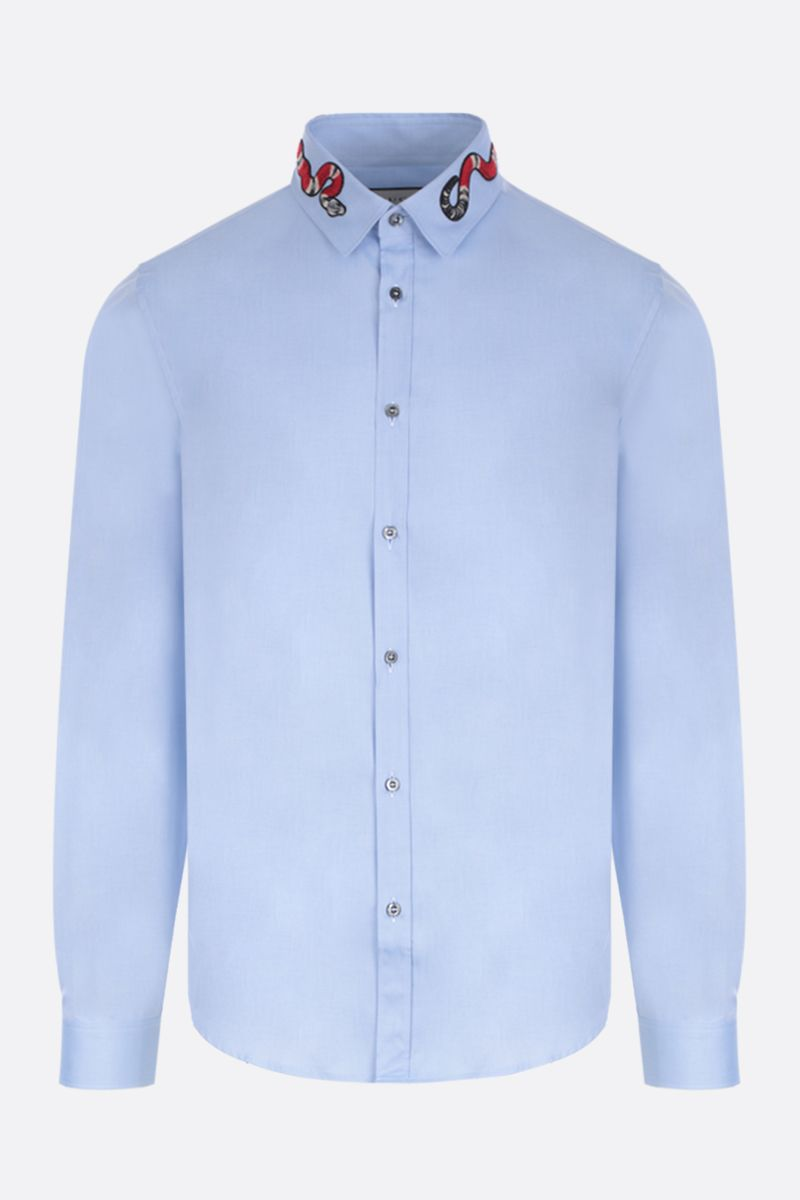 GUCCI: Duke cotton shirt Color Blue_1