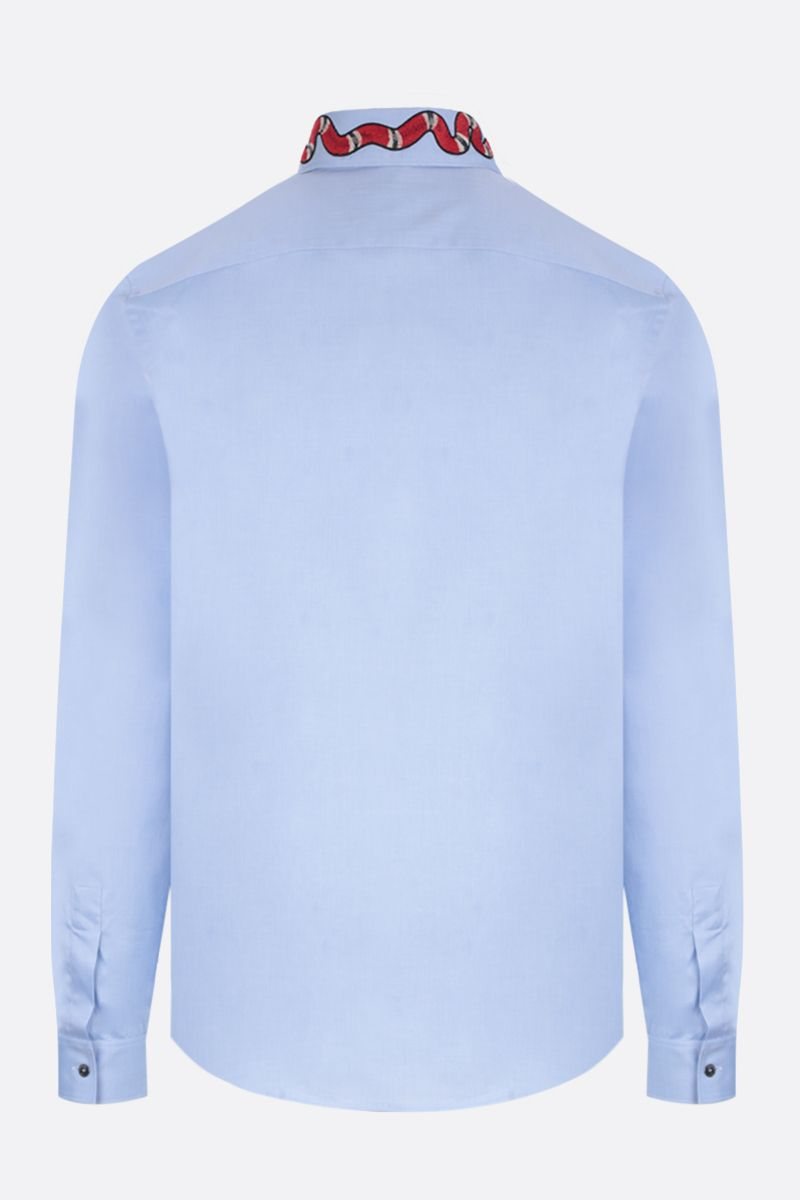GUCCI: Duke cotton shirt Color Blue_2