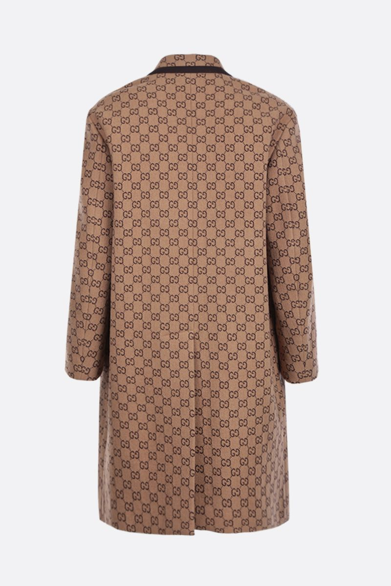 GUCCI: single-breasted coat in GG wool blend_2