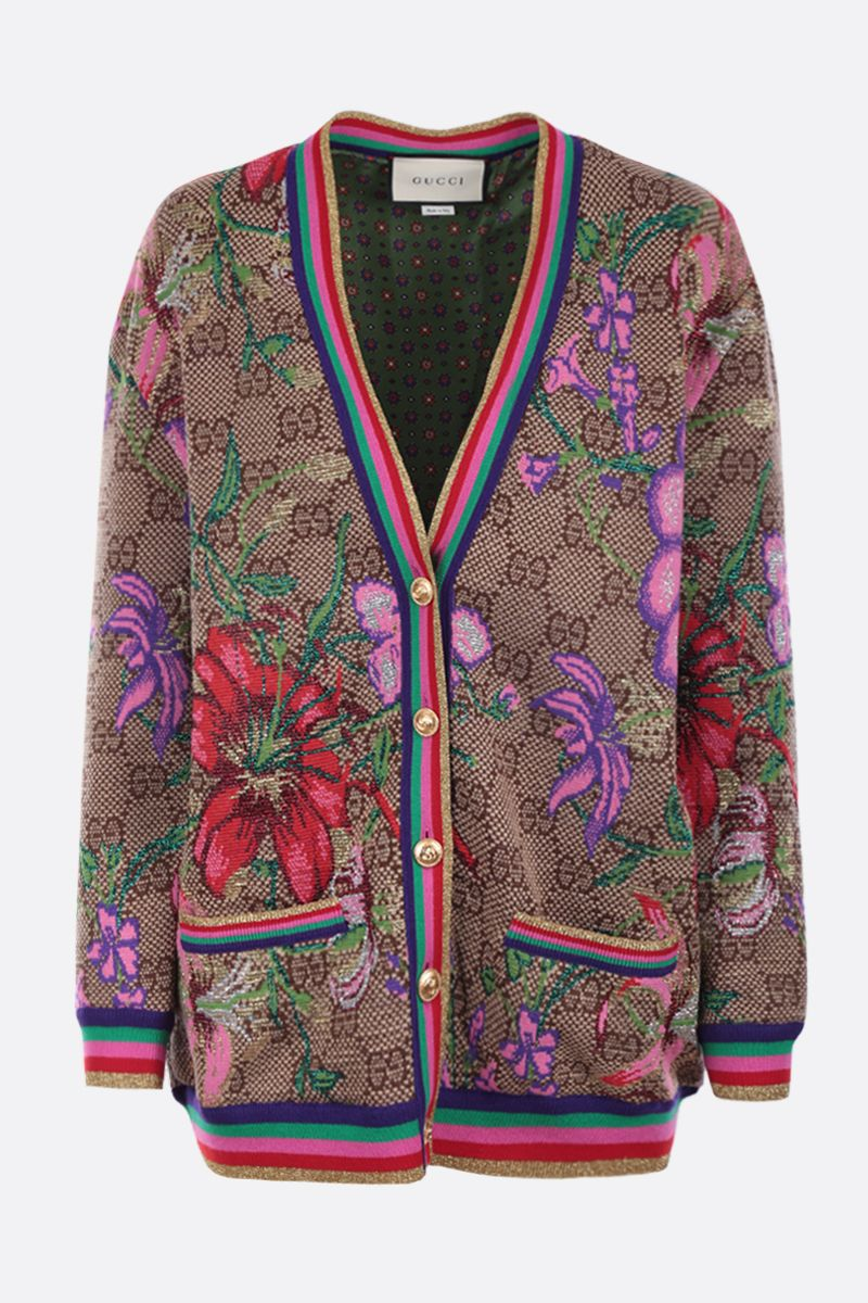 GUCCI: GG Flora wool jacquard cardigan Color Multicolor_1