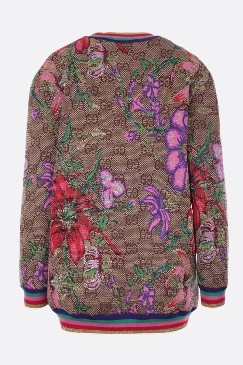 GUCCI: GG Flora wool jacquard cardigan Color Multicolor_2