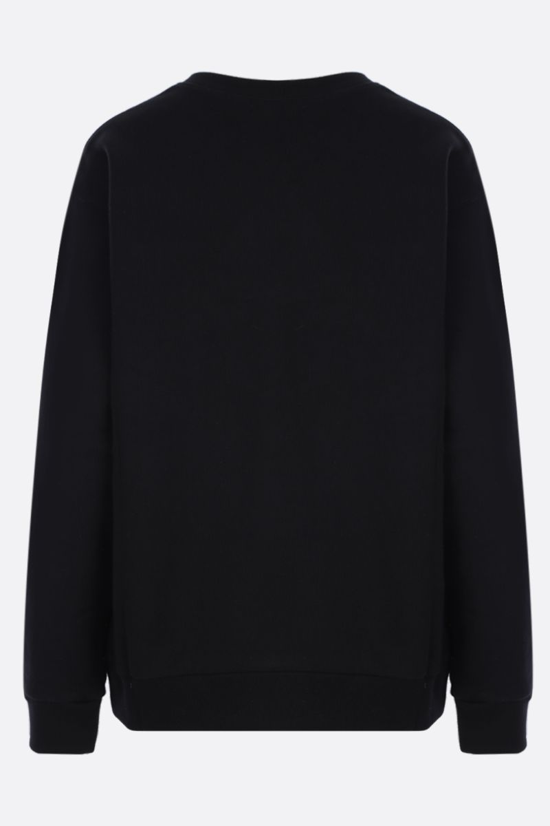 GUCCI: Gucci vintage embroidered cotton oversized sweatshirt Color Black_2