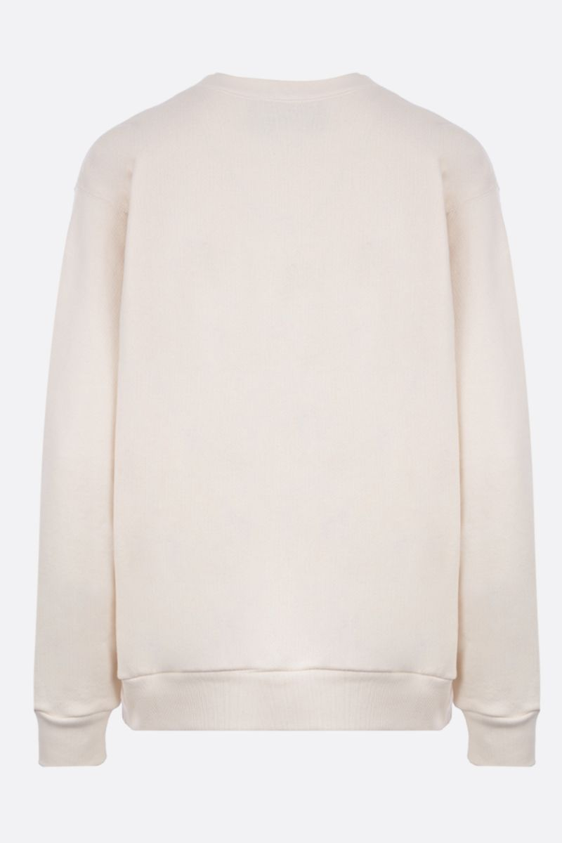 GUCCI: Gucci vintage embroidered cotton oversized sweatshirt Color White_2