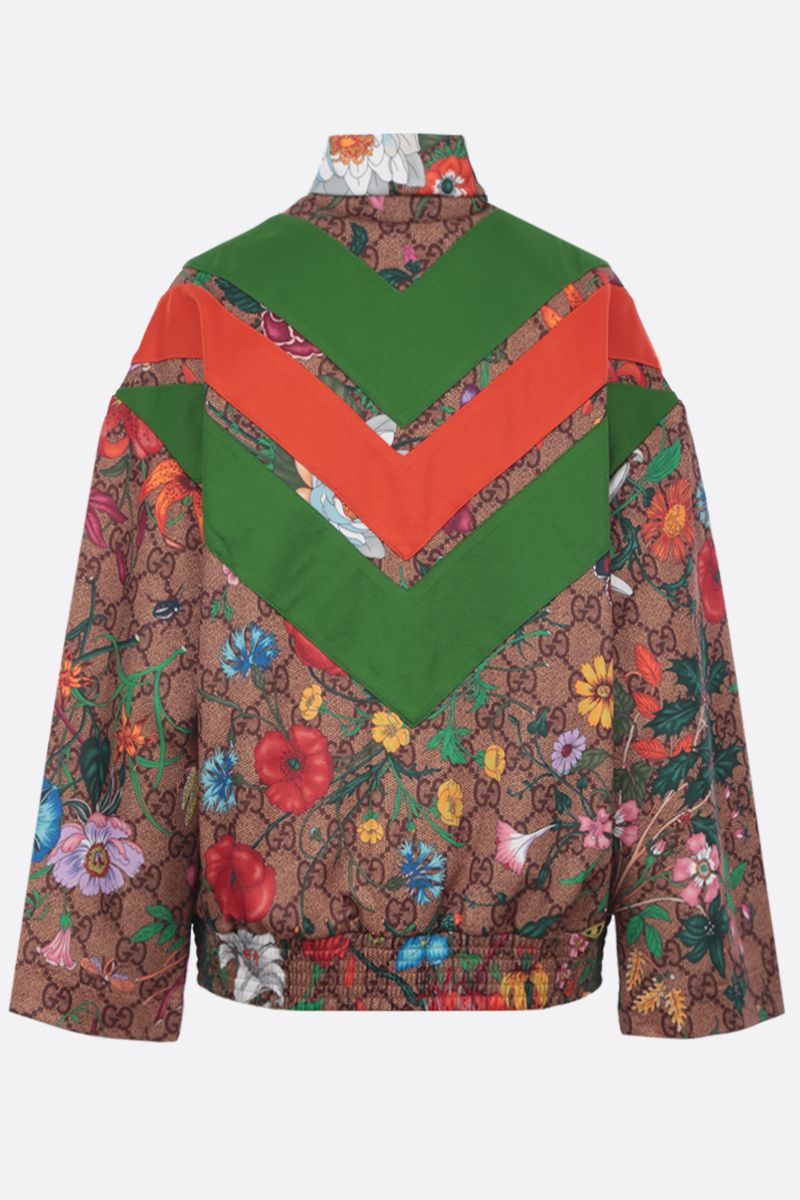 GUCCI: oversized full-zip sweatshirt in GG Flora technical jersey Color Multicolor_2