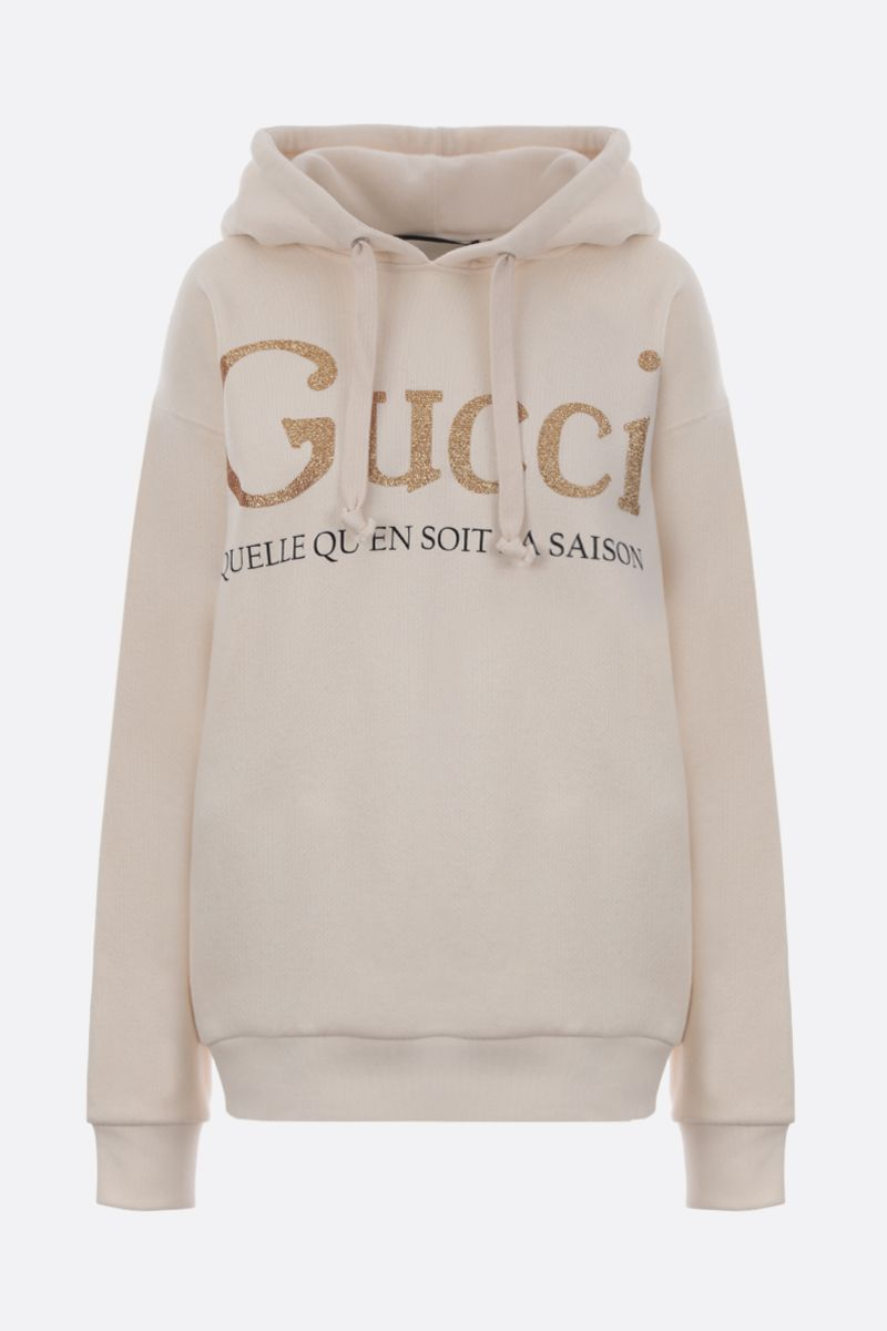 GUCCI: Gucci print cotton oversized hoodie_1