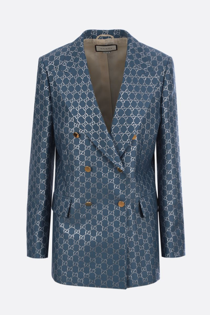 GUCCI: GG wool blend double-breasted jacket_1
