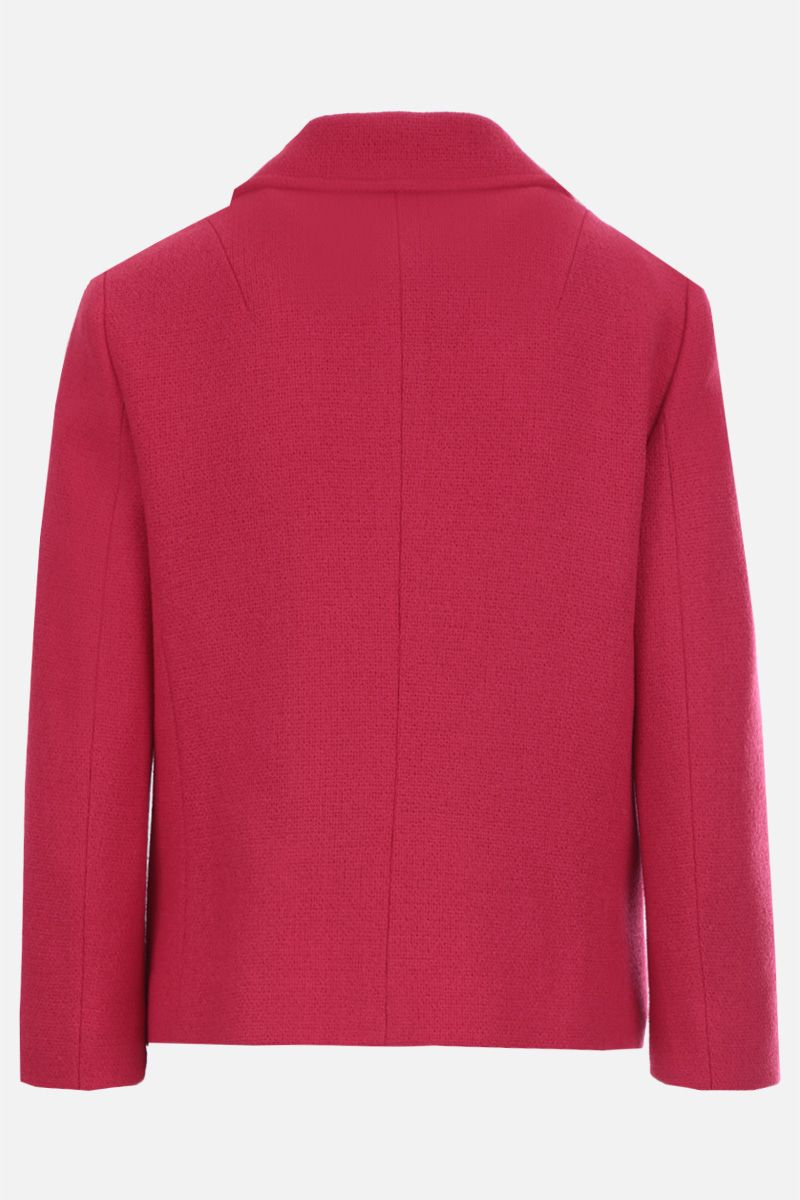 GUCCI: giacca monopetto in tweed Colore Rosa_2