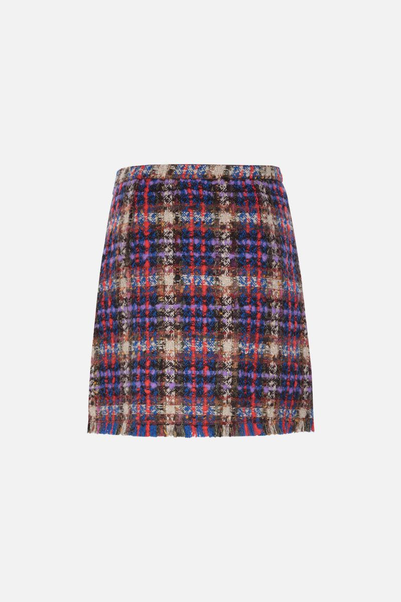 GUCCI: check tweed A-line miniskirt_2