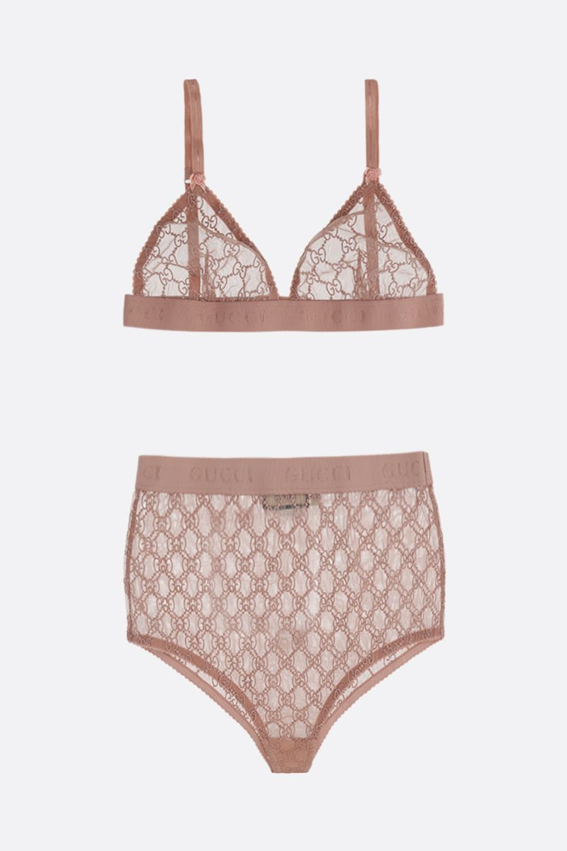 GUCCI: GG tulle lingerie set_1