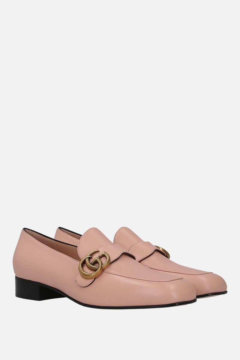GUCCI: Double G-detailed smooth leather loafers_2