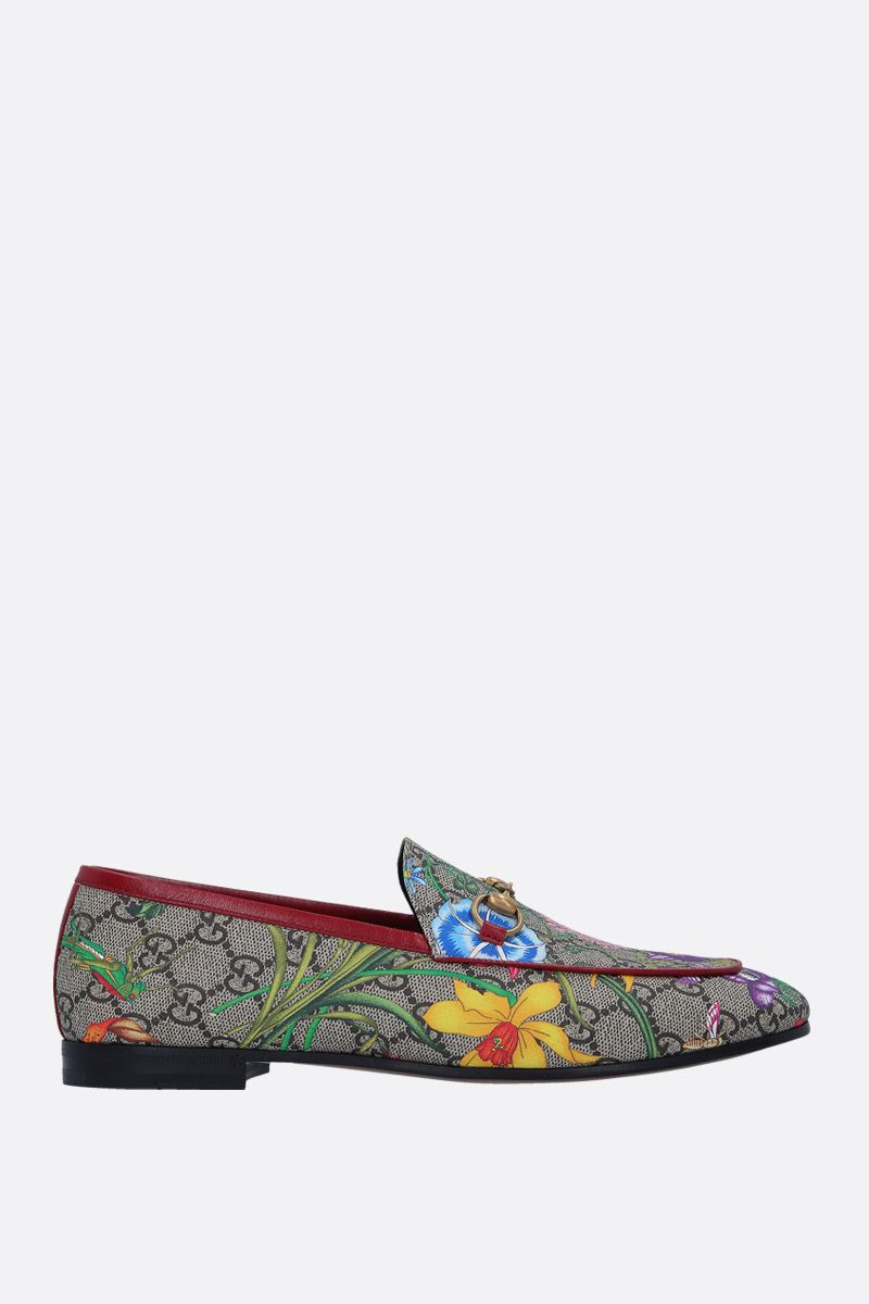 GUCCI: Jordaan loafers in GG Supreme canvas_1