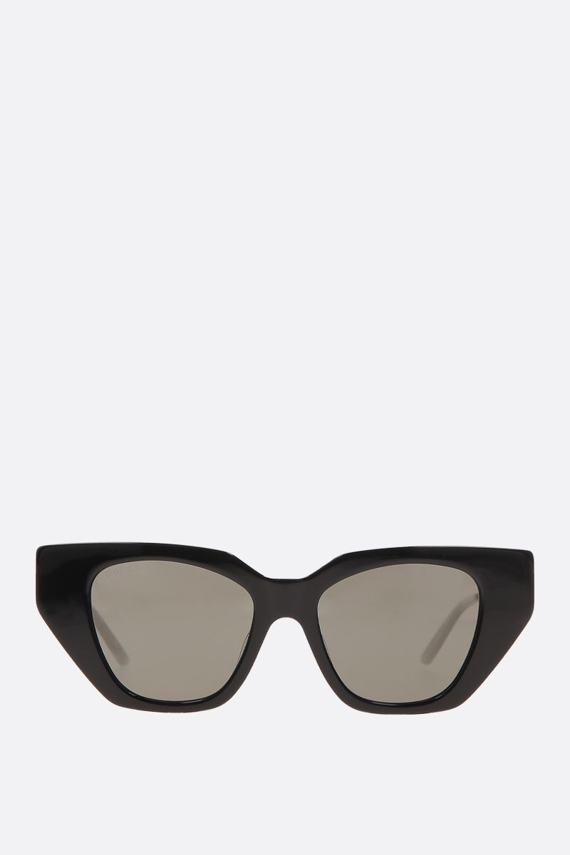 GUCCI: cat-eye acetate sunglasses Color Multicolor_1