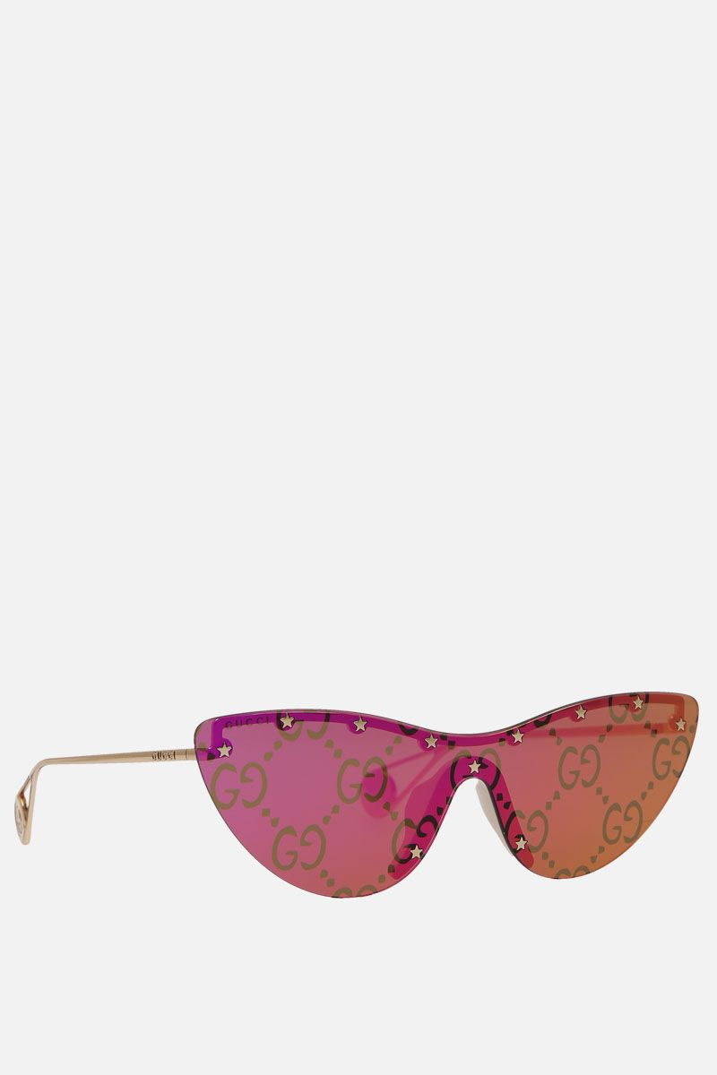 GUCCI: cat-eye metal sunglasses_2