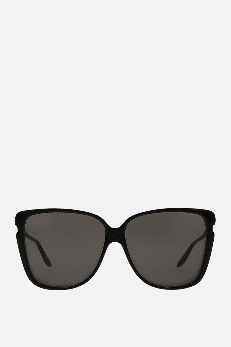 GUCCI: square-frame acetate sunglasses Color Multicolor_1