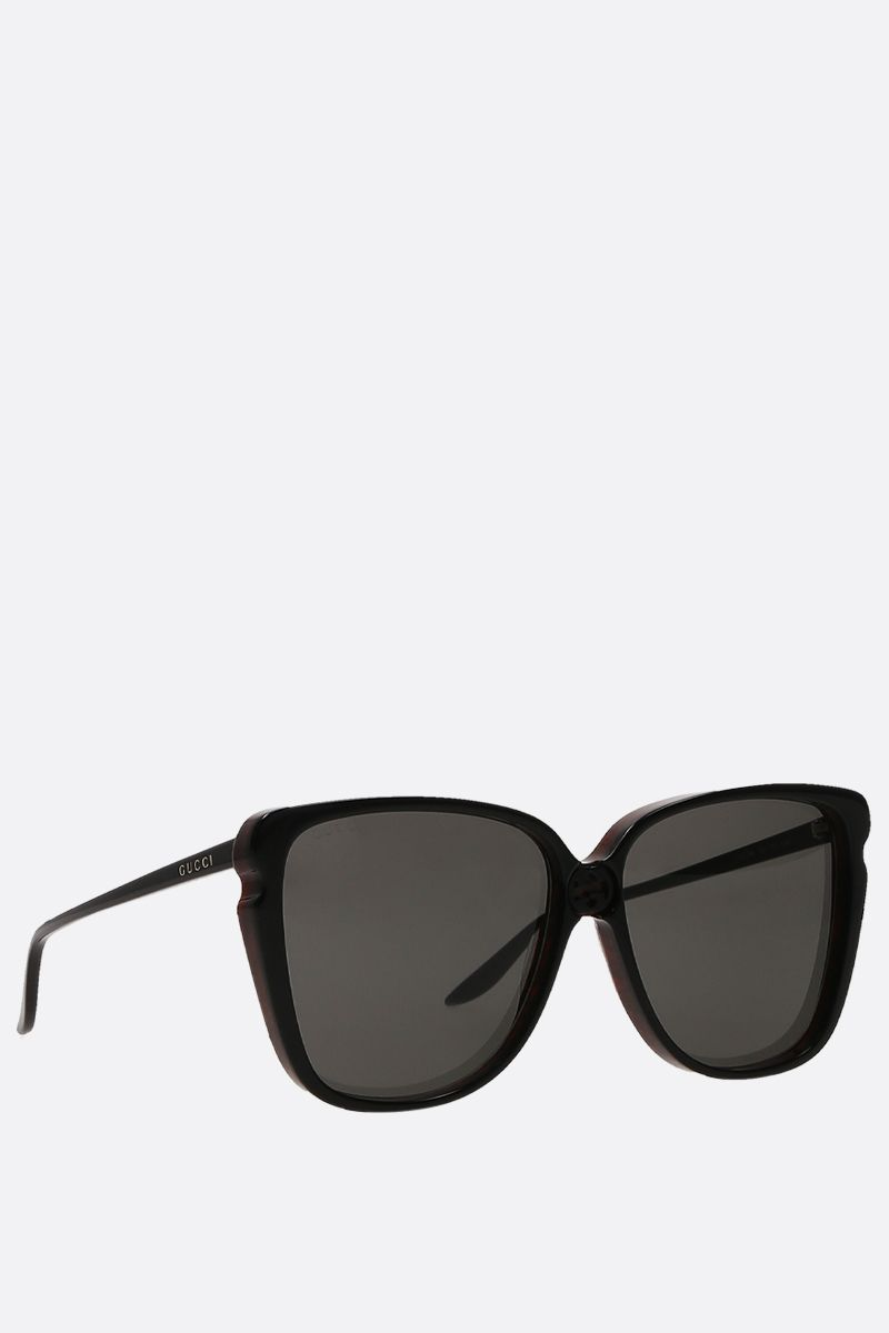 GUCCI: square-frame acetate sunglasses Color Multicolor_2