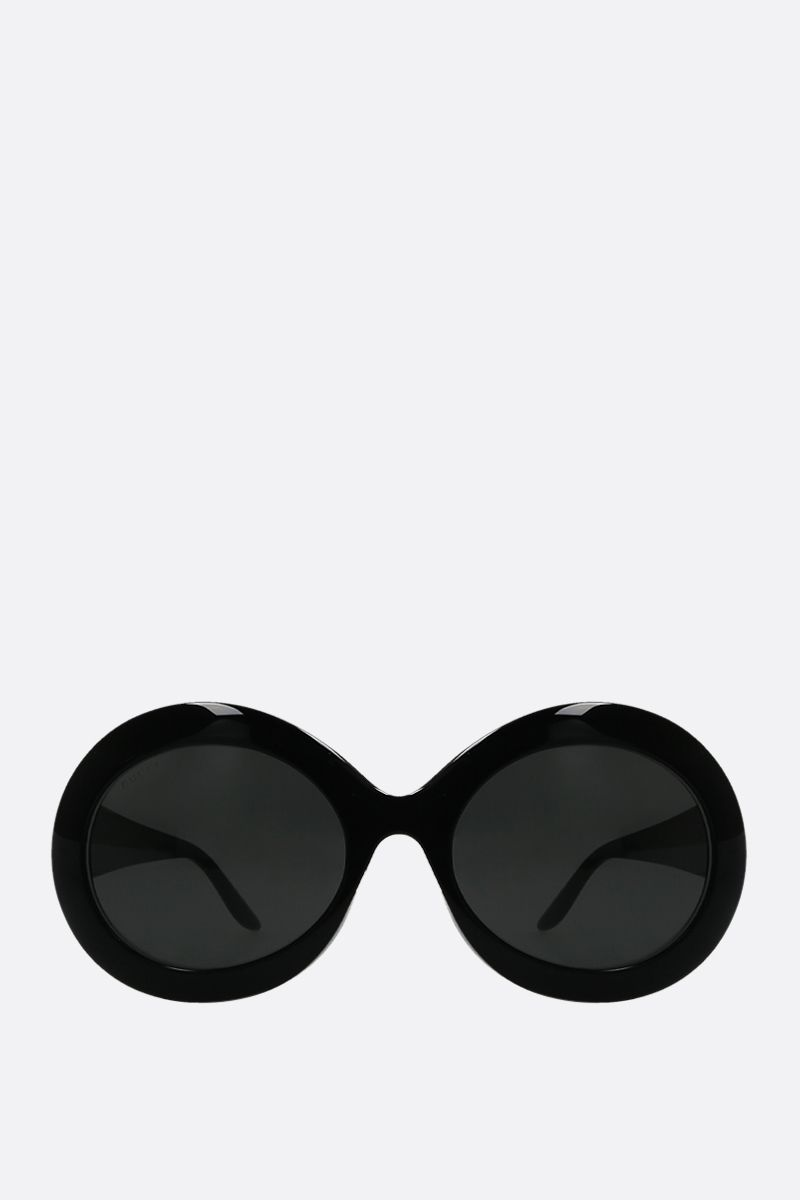 GUCCI: round-shape acetate sunglasses Color Black_1