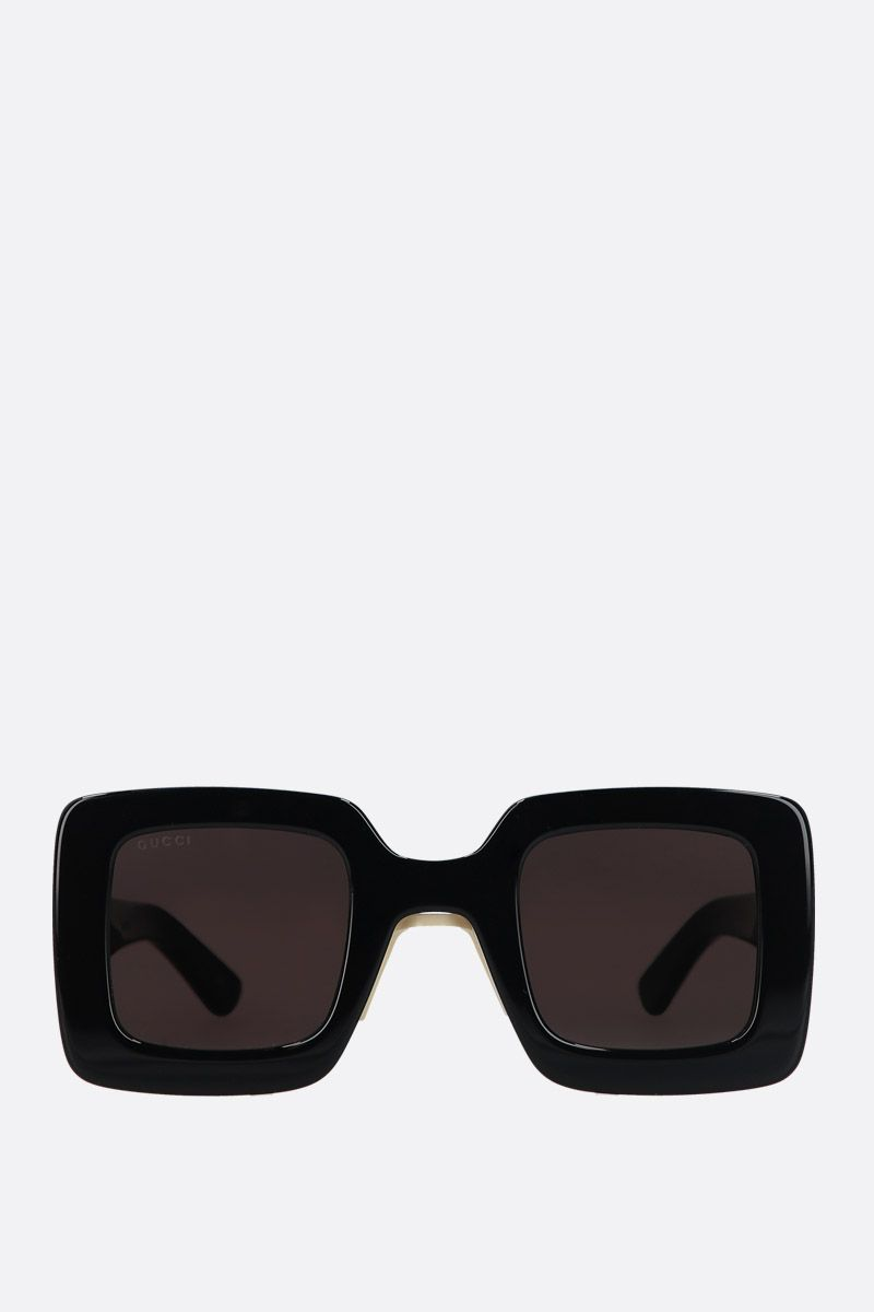 GUCCI: square-frame acetate sunglasses Color Black_1