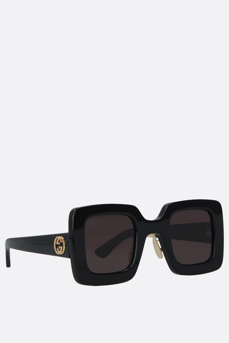 GUCCI: square-frame acetate sunglasses Color Black_2