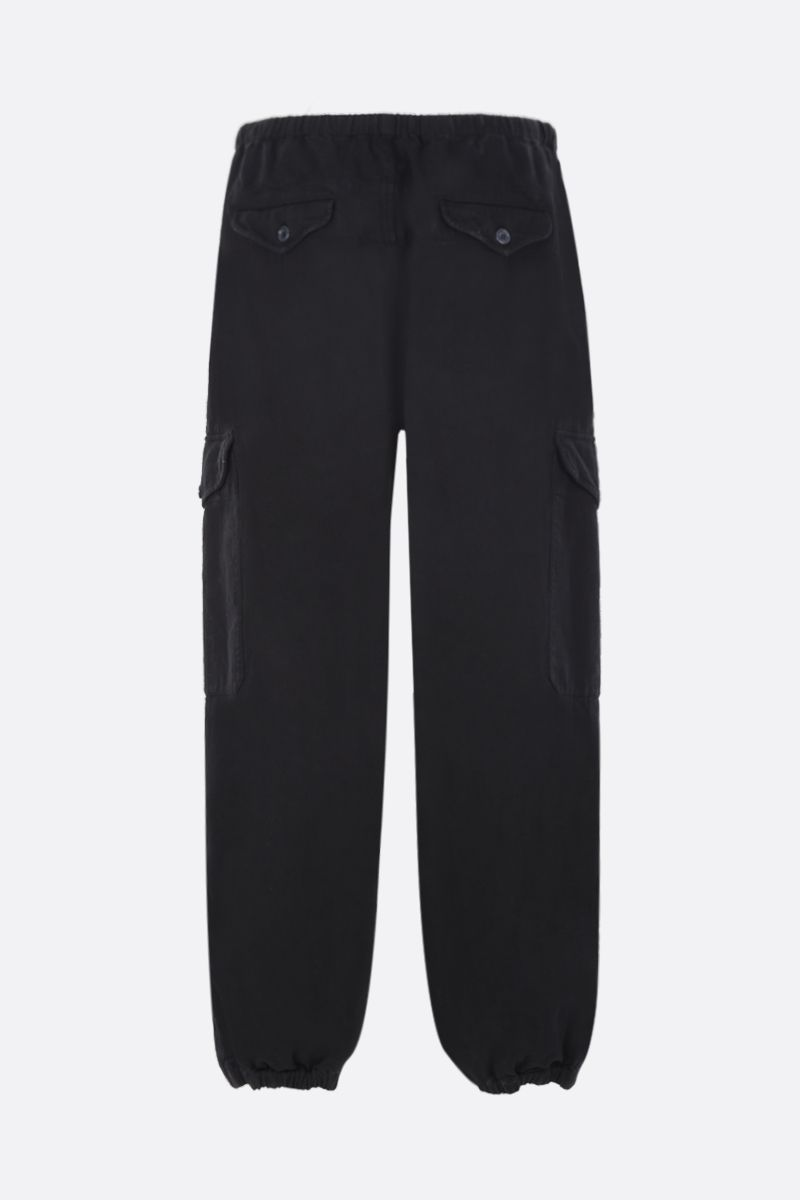 GUCCI: Gucci Worlwide patch cotton cargo pants Color Black_2