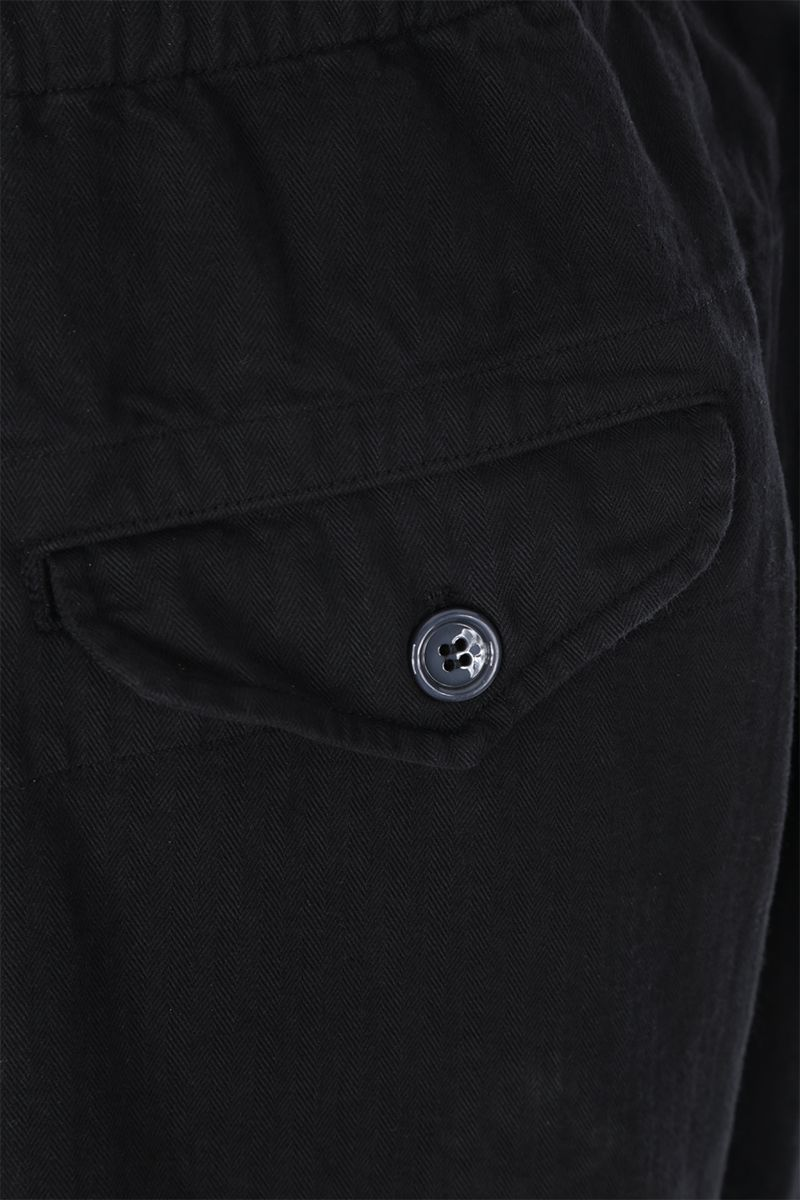 GUCCI: Gucci Worlwide patch cotton cargo pants Color Black_4
