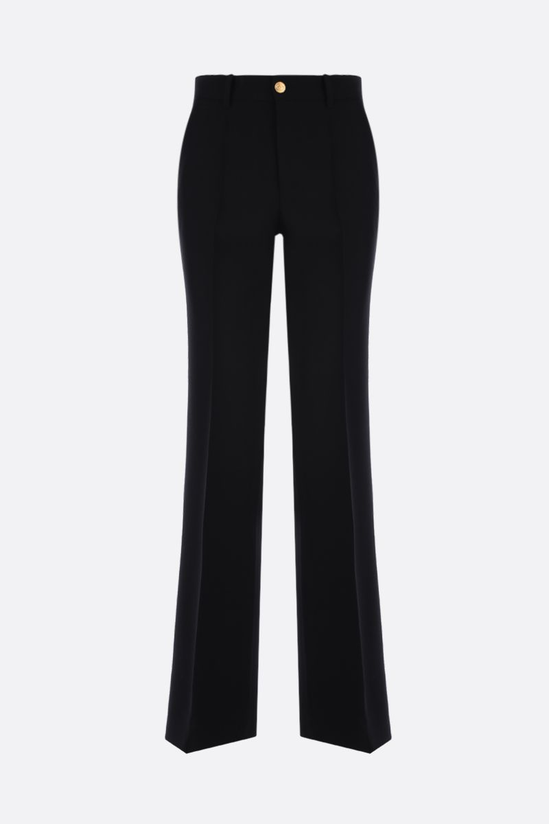 GUCCI: wool silk cady flare pants Color Black_1