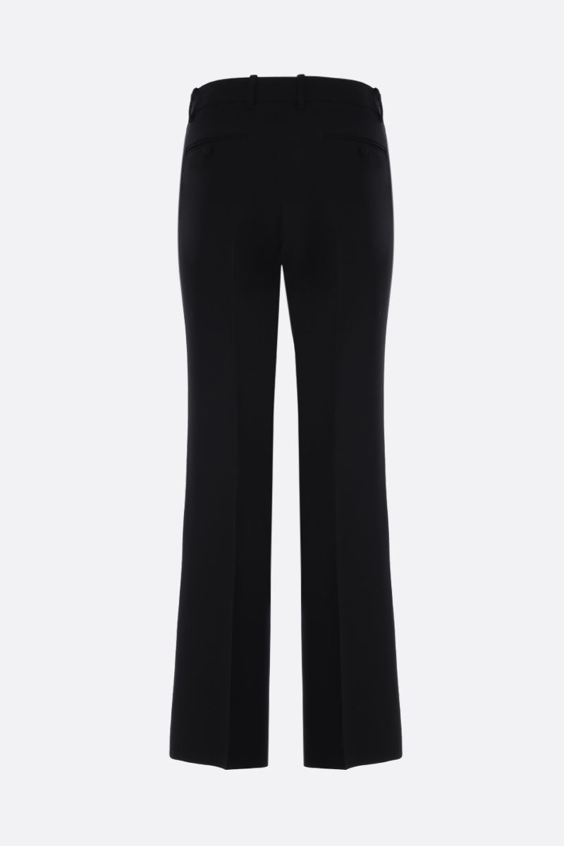 GUCCI: wool silk cady flare pants Color Black_2