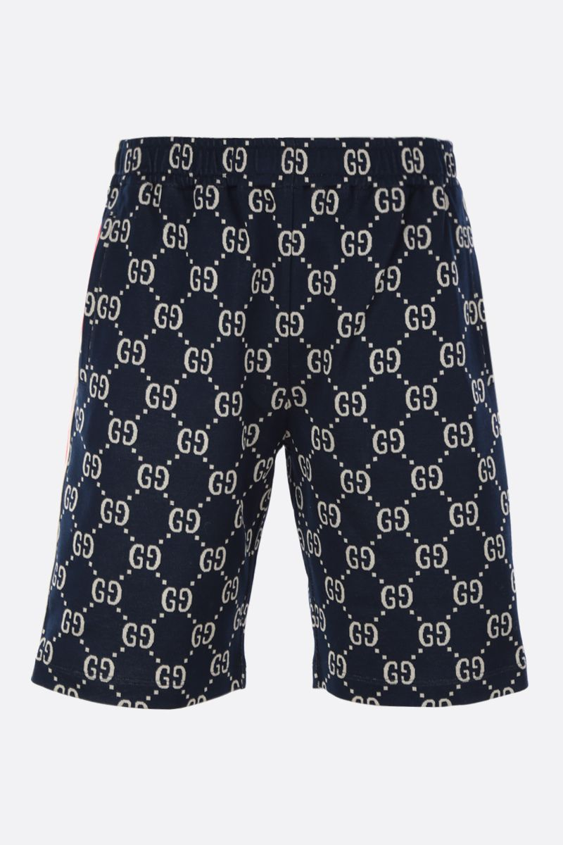 GUCCI: Web-detailed GG cotton shorts_1