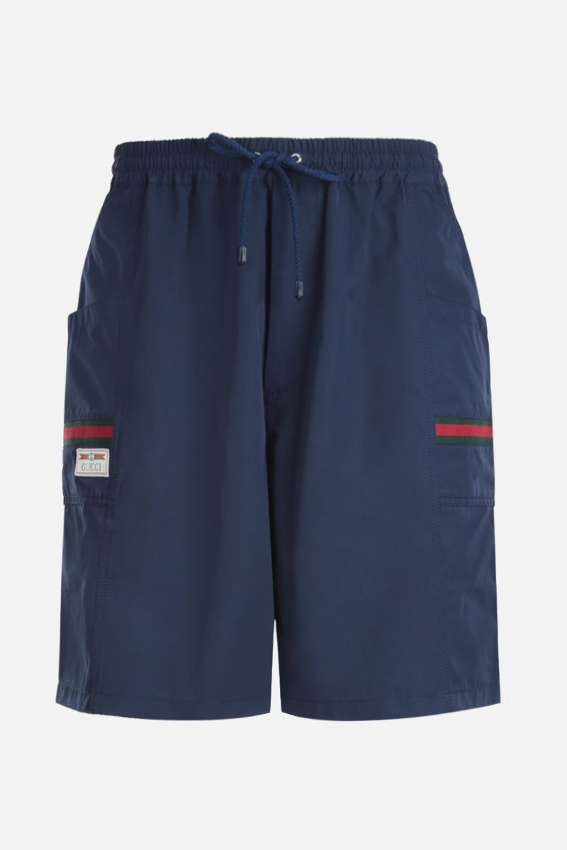 GUCCI: technical cotton shorts with Web details Color Multicolor_1