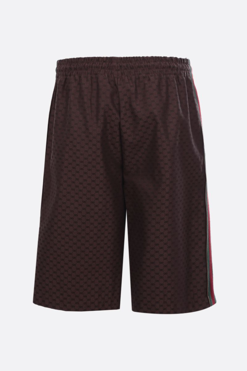 GUCCI: mini GG fabric shorts Color Brown_2