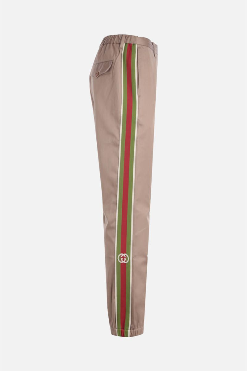 GUCCI: cotton joggers with Web tapes_2