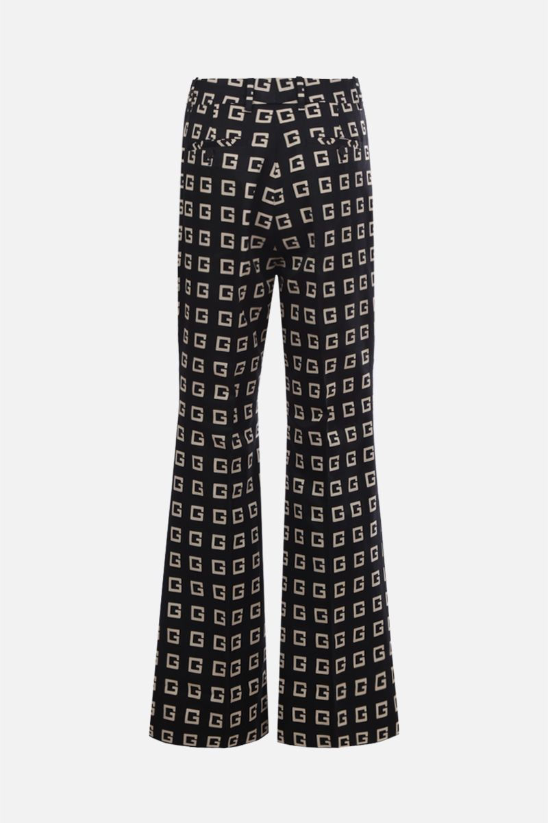 GUCCI: Square G print faille flare pants Color Black_2