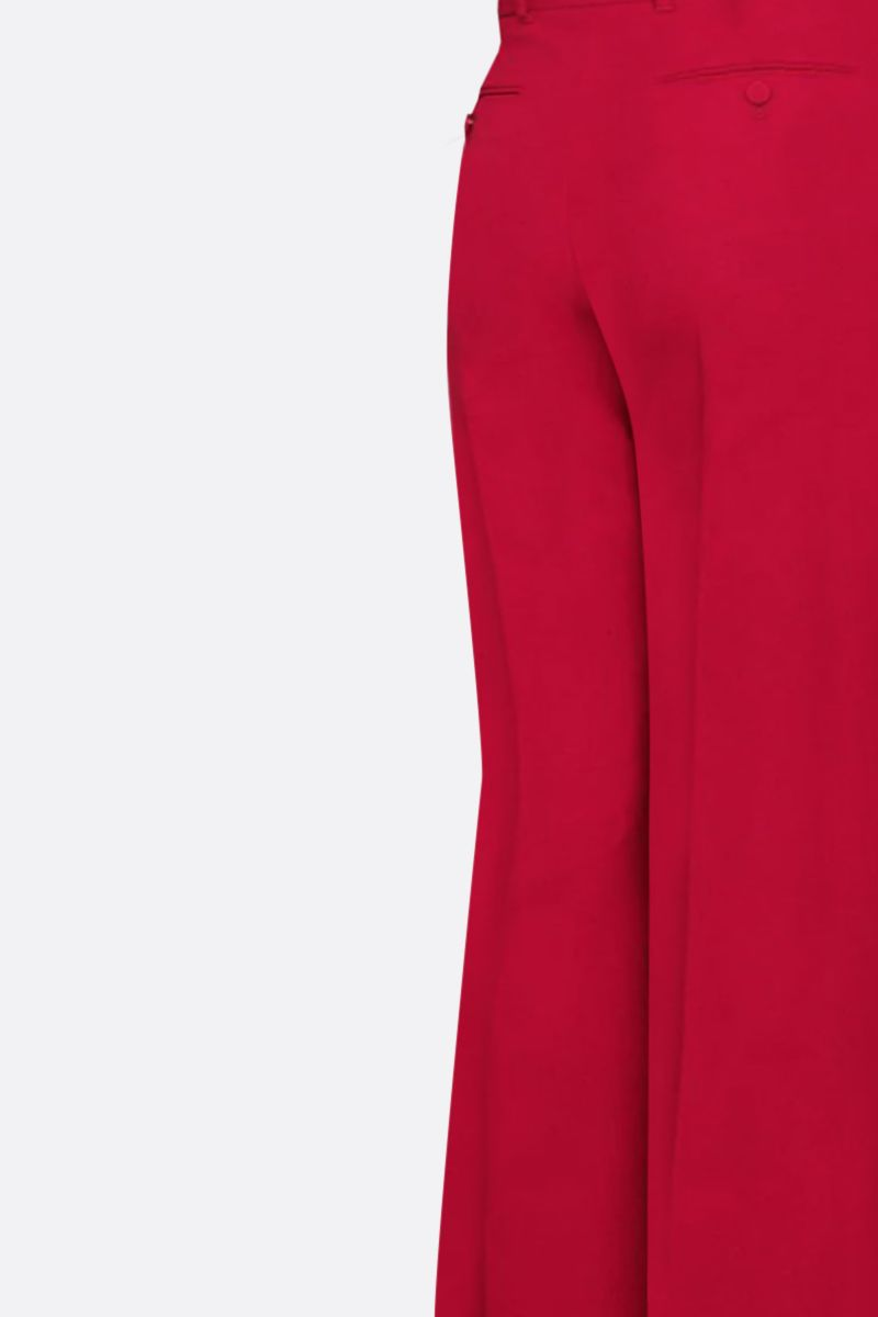 GUCCI: silk wool blend flare pants Color Red_2
