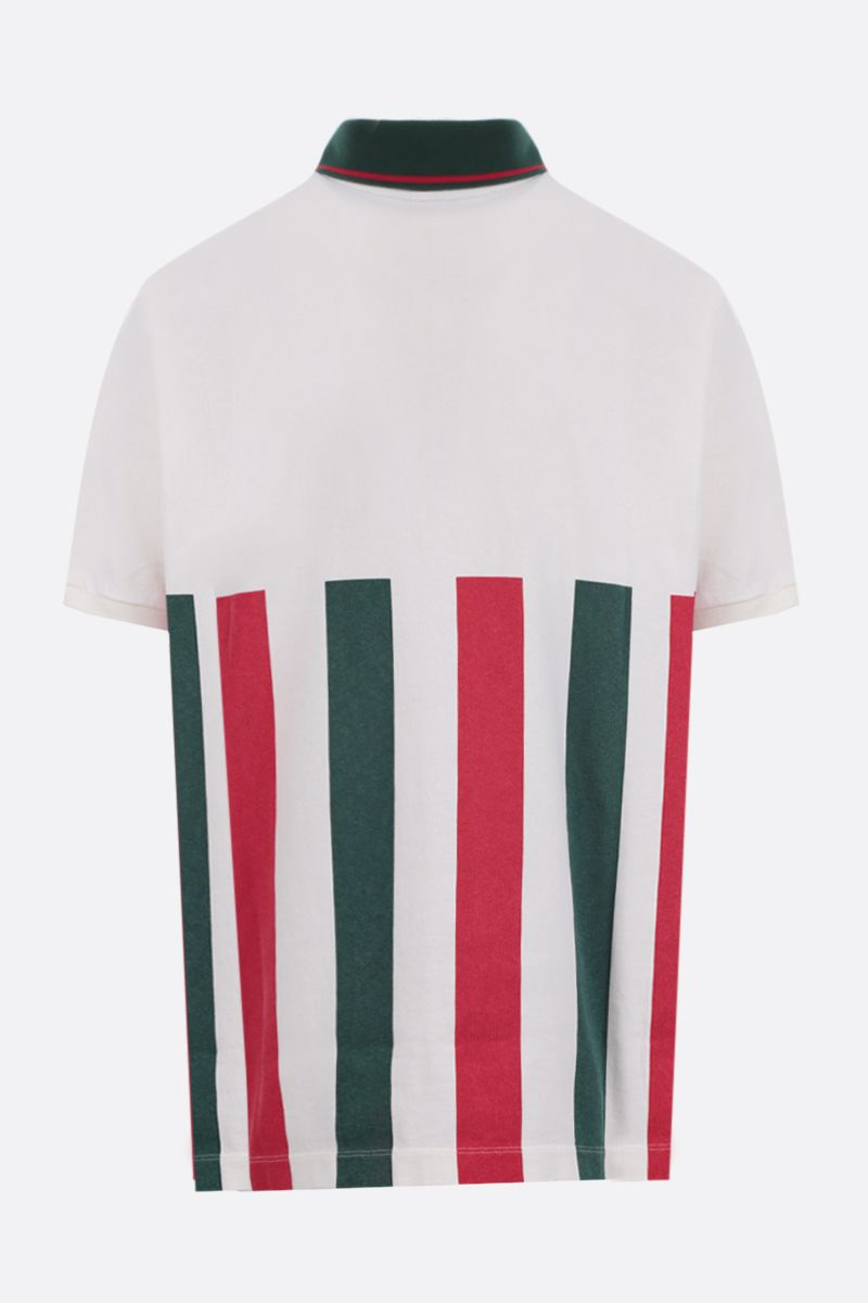 GUCCI: Web striped cotton oversize polo shirt_2